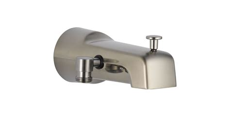 bathtub faucet with shower connection faucet com u1010 ss pk in brilliance stainless by delta