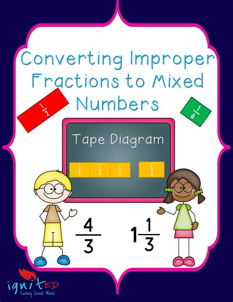 diagram improper fractions diagram converting improper fractions to mixed numbers ignited