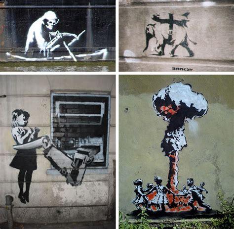 stencil graffiti street graphics banksy art street graffiti paper drawings wall stencils urbanist