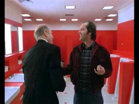 bathroom scene in the shining the shining torrance and delbert grady in the restroom