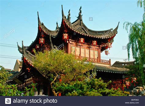 traditional chinese house beautiful flowers garden house
