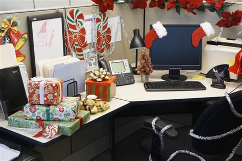 office table christmas decorating ideas creative inspirational work place decorations godfather style