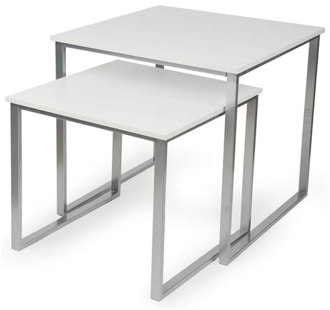display table retail nesting tables set of 2 square displays