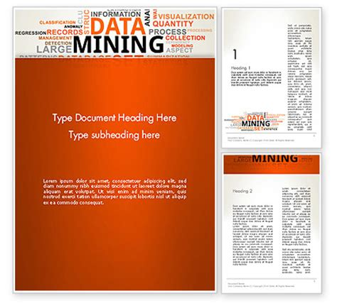 data mining word cloud word template 13038