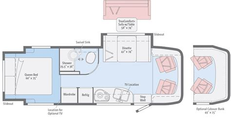 class a rv floor plans view floorplans winnebago rvs