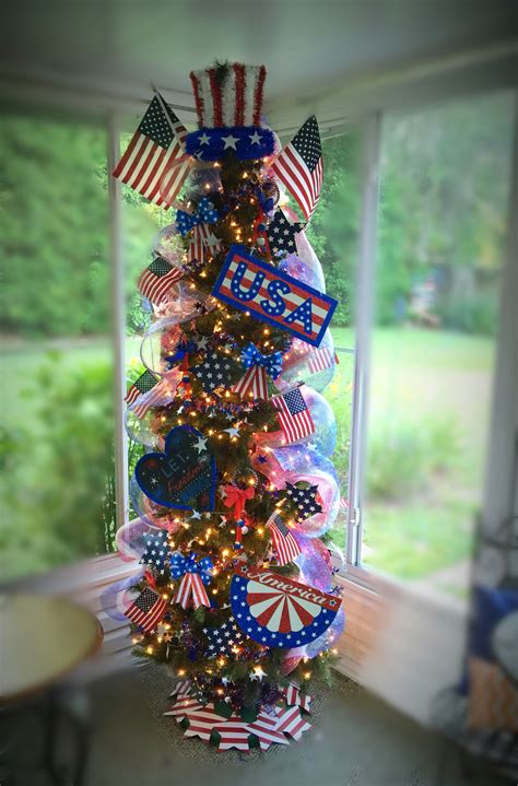 memorial day tree 4th of july tree patriotic tree usa