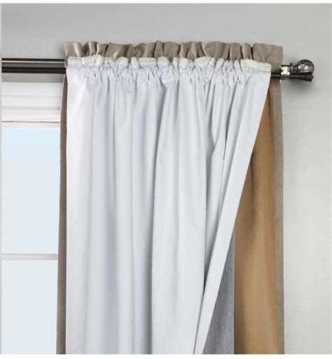 how to attach blackout liner to curtains rod pocket curtains thecurtainshop com
