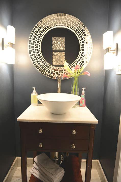 small bathroom mirror ideas inspiring half bathroom interior design ideas blue half