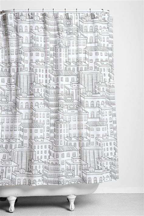 city curtains city block shower curtain sweet home pinterest