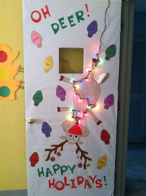 christmas door decorations for work this is a idea for door decorations and