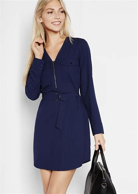 Sleeve Zip Front Shirt express sleeve zip front shirt dress dresses shop