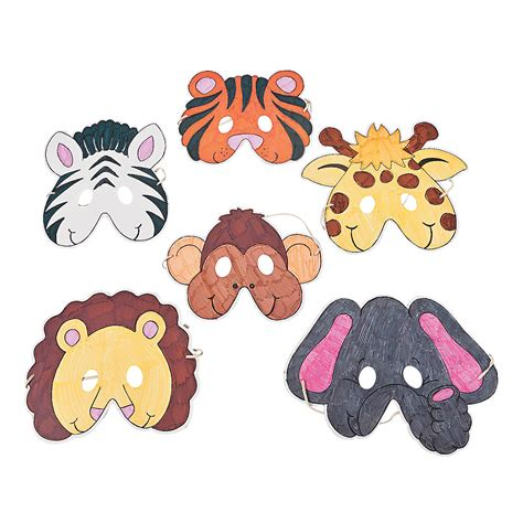 printable zoo animal masks color your own zoo animal masks oriental trading