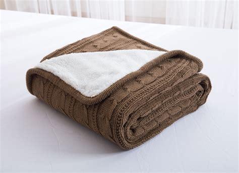 baumwolle fleece decke 100 baumwolle zopfmuster decke handgemachten fleece