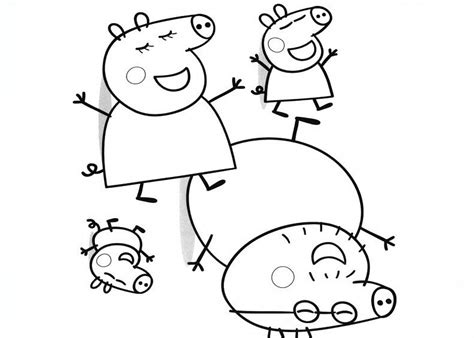 free peppa pig in bed to coloring pages