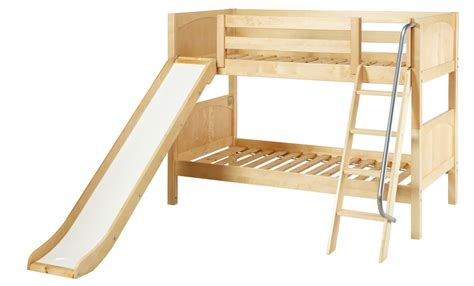 Bunk Beds With Slide by Maxtrix Low Bunk Bed W Angled Ladder And Slide