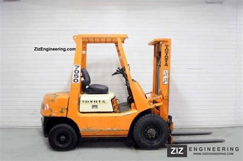 toyota 25 forklift specifications toyota 02 fd25 4034bts 1990 front mounted forklift truck