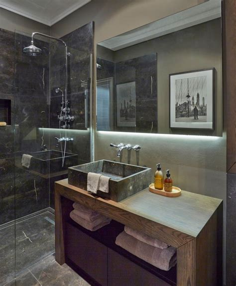 masculine bathroom designs 98 best images about spaces for gentlemen on