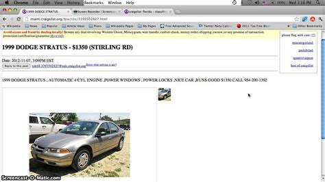 Craigslist Cars Port Fl craigslist trucks for sale by owner autos post