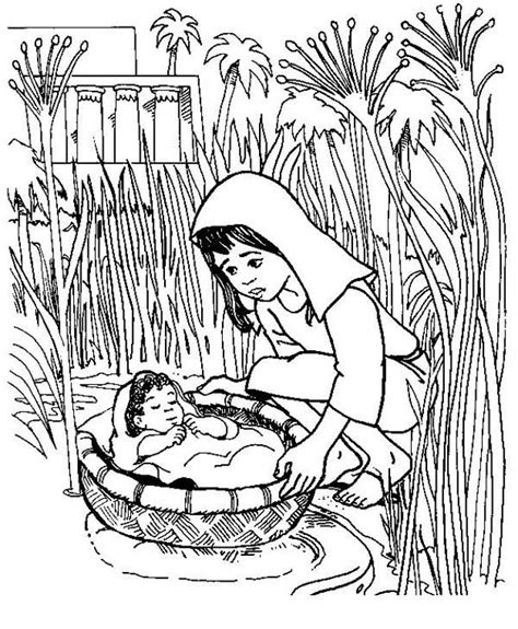 coloring pages of baby moses and miriam 103 best church crafts images on pinterest fish school