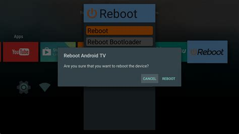 reboot android reboot android tv