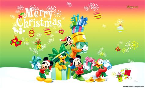 merry christmas mickey mouse wallpaper  wallpapers