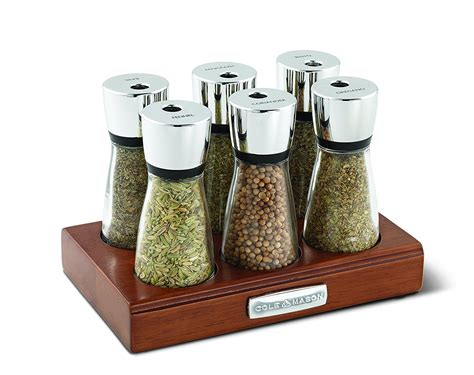 spice rack with empty jars cole mason wooden spice rack with glass jars 6 jar