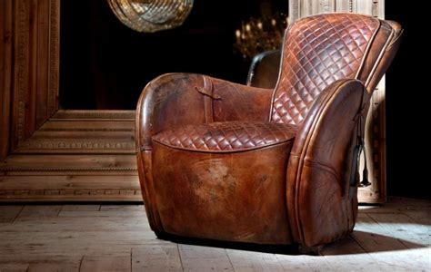 Buck?dN Brok?n leather Saddle Chair   Timothy Oulton