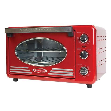 nostalgie toaster nostalgia retro series toaster oven in rtov220retrored