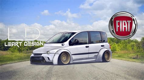 fiat multipla tuning virtual tuning fiat multipla photoshop youtube