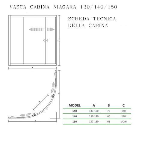 cabine doccia angolari sopra vasca per vasche angolari 130 140 150