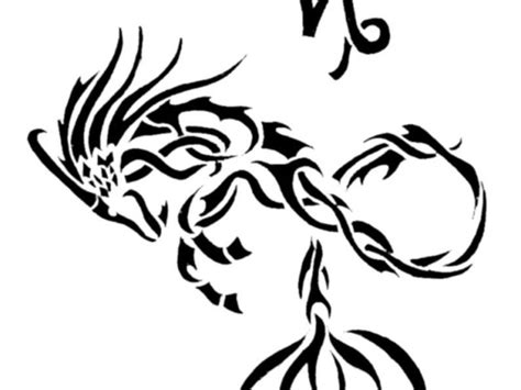 capricorn tribal tattoo designs tribal capricorn zodiac sign design