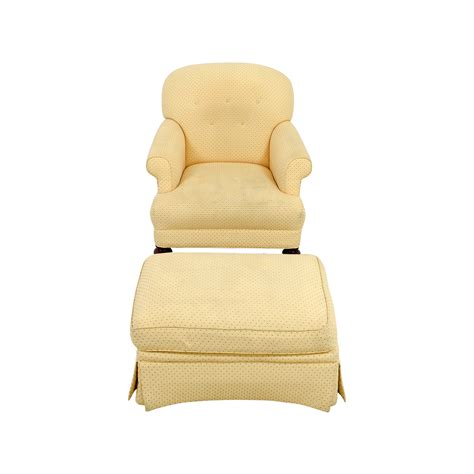 yellow chair with ottoman houseofaura com yellow chair with ottoman wood and pale