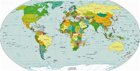 world map  countries  large images