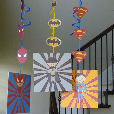 printable superman party decorations super hero decorations instant download printable