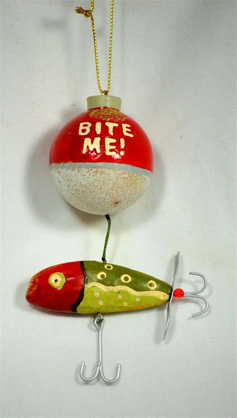 bite me christmas fishing lure ornament
