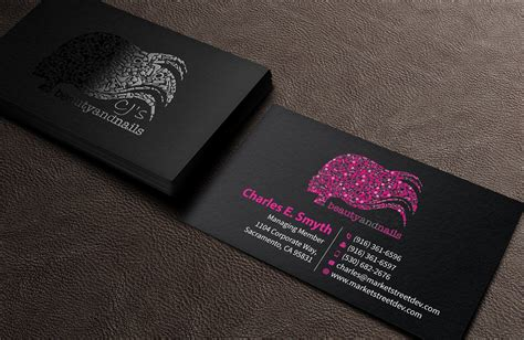 Sle Business Cards business cards nail technician designs nail ftempo