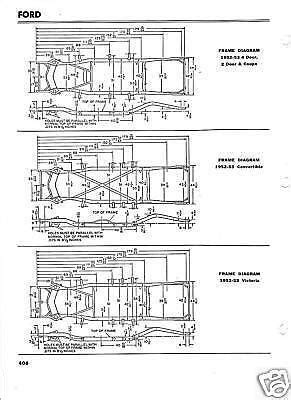 1952 1953 Ford NOS Frame Dimensions Alignment Specs | eBay