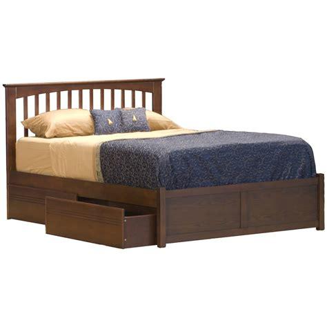 mission futon mission espresso platform bed by atlantic furniture