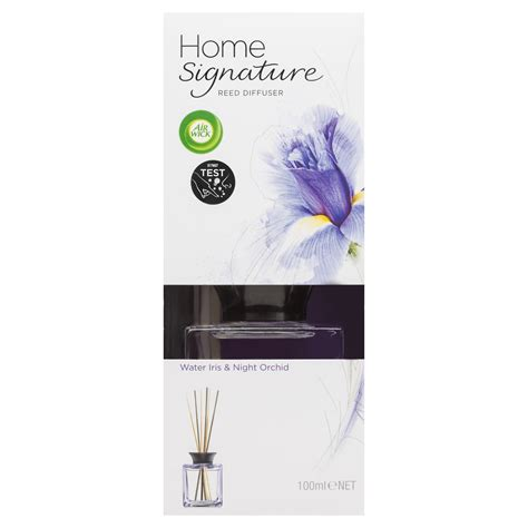 home signature air wick home signature reed water iris night orchid