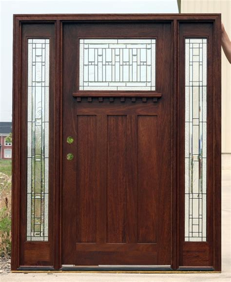Craftsman Front Door With Sidelights Craftsman Doors With Sidelights Mahogany