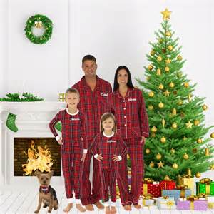 personalized embroidered family christmas pajamas