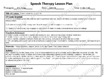 General Lesson Plan Template Beautiful Template Design Ideas Speech Therapy Lesson Plan Template
