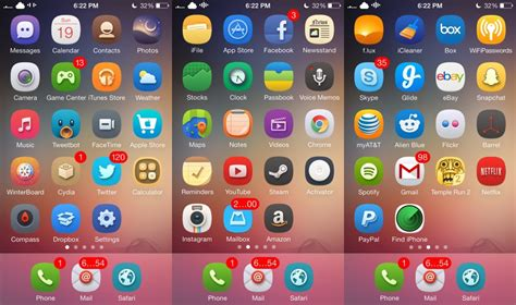themes for iphone ios 7 best ios 7 winterboard themes for iphone