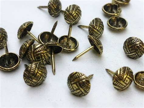 decorative nails for upholstery 100 x decorative upholstery nails studs tacks brass