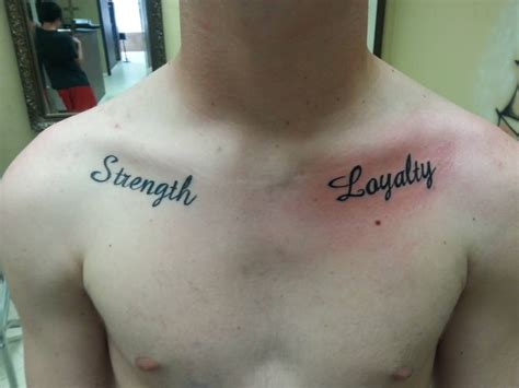 25 wonderful strength text letters tattoos golfian com