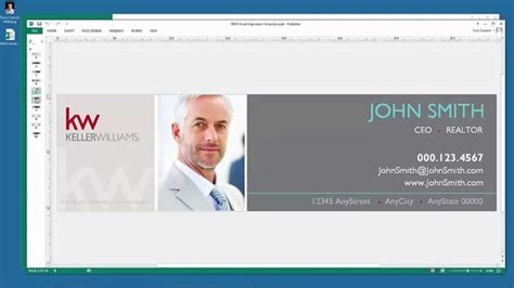 Email Signature Tutorial Using Publisher And Paint For Keller Williams Agents Youtube Microsoft Publisher Email Templates