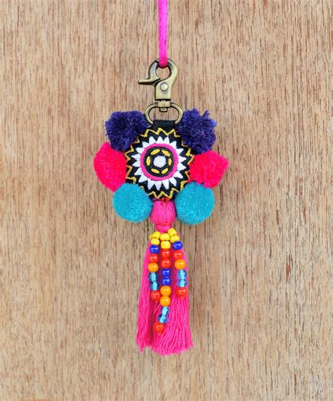 Handmade Bag Charms - multicolor tassel handmade bag charm tribal bohemian