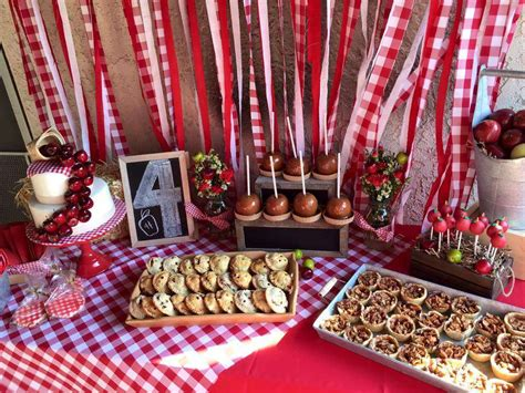 apple themed events apple orchard picnic party birthday party ideas photo 1