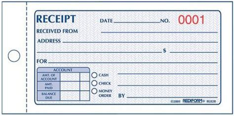 receipt book template images template design ideas