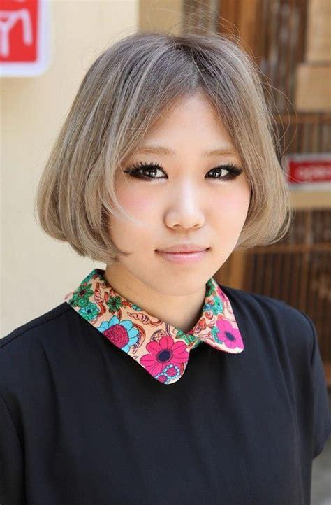 chin length grey hairstyles japanese hairstyles chin length gray bob cut with cute